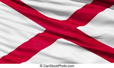 onduler, alabama etat, drapeau, nous
