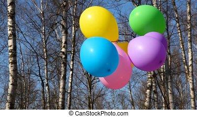 onduler, ballons, vent