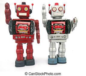 onduler, bonjour, reto, deux, robots