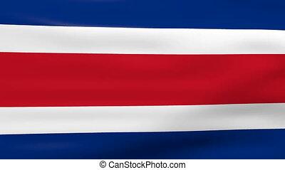 onduler, costa, drapeau, rica