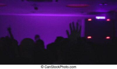 "onduler, danse, gens, mains, boîte nuit, party"", ""silhouettes"