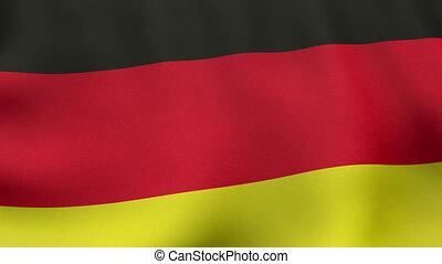 onduler, drapeau allemand, animation, loopable