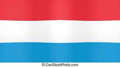 onduler drapeau, fond, faire boucle, luxembourg