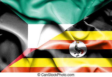 onduler, drapeau kowéit, ouganda
