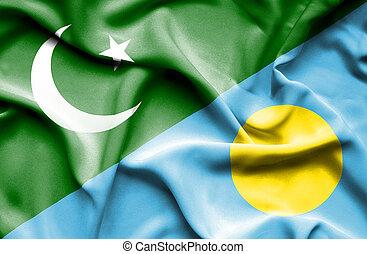 onduler, drapeau pakistan, palaos