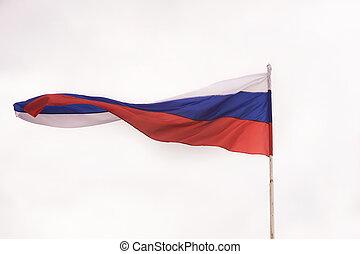 onduler, drapeau russe, wind.
