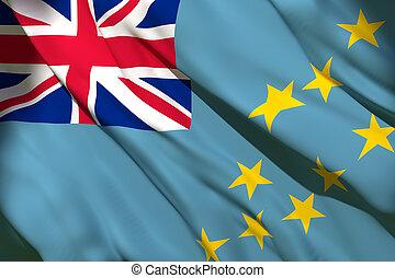 onduler, drapeau tuvalu