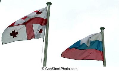 onduler, europe, drapeaux, nations