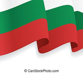 onduler, flag., bulgare, vecteur, fond