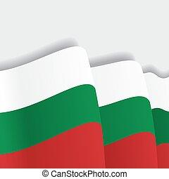 onduler, flag., bulgare, vecteur, illustration.