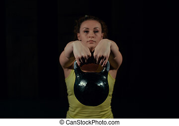 onduler, gym., girl, poids
