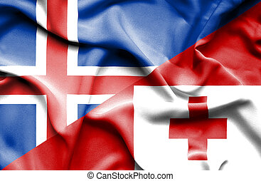 onduler, islande, drapeau tonga