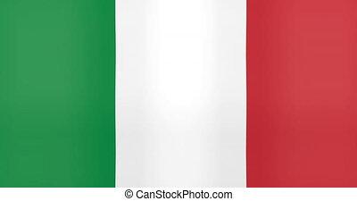 onduler, italie, fond, drapeau, faire boucle