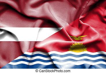 onduler, kiribati, drapeau, lettonie