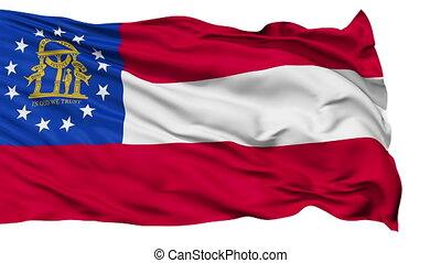 onduler, national, géorgie drapeau, isolé