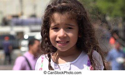 onduler, peu, enfants, fille souriant