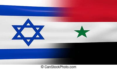 onduler, syrie, drapeau israël