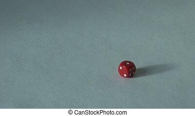 one 1 red bone dice board game. choice casino