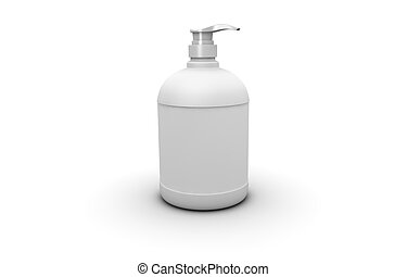 soap dispenser - One 3d soap dispenser with blank space for...
