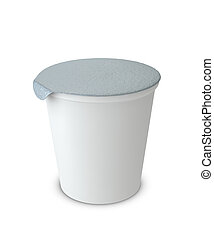 yogurt cup - One 3d yogurt cup with blank space for general ...