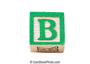 One alphabet block