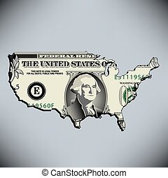 One American Dollar for print or web use