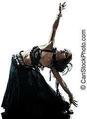arabic woman belly dancer dancing