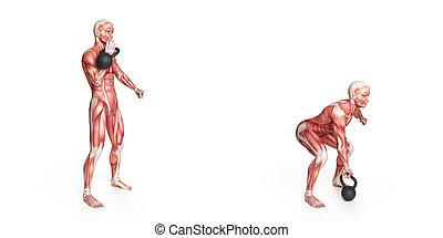 one arm kettlebell clean - kettlebell exercise - one arm...