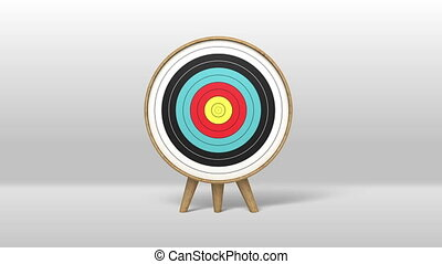 One arrow hitting the target 2 - One arrow hitting exactly...