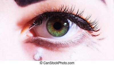 one art eye closeup macro