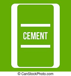 One bag of cement icon green