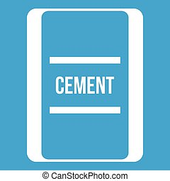 One bag of cement icon white