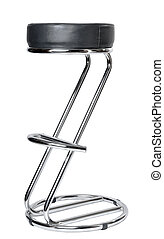 one Bar chair on a white background isolated
