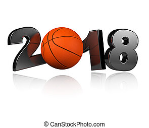 One Basketball 2018 Design with a white Background