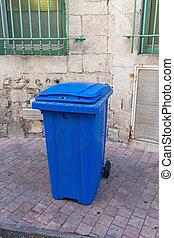 Blue Wheelie Bin