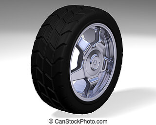 one big rim with a big tyre