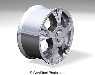 one big rims without any brand
