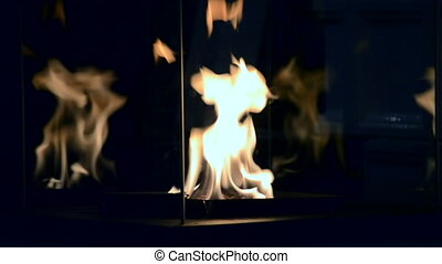 Contemporary mount biofuel on ethanol fireplot fireplace...