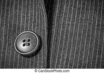 one black button