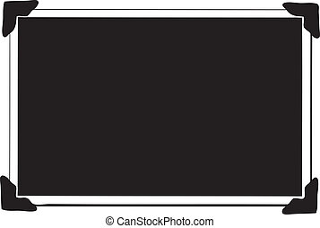 One Blank Picture with photo corners - Blank Picture with...