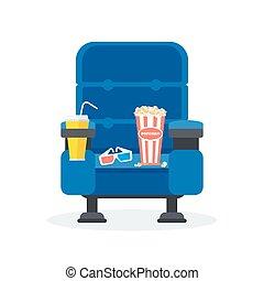 one blue chair