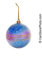 One blue Christmas ball
