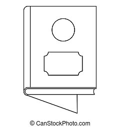 One book icon, outline style.