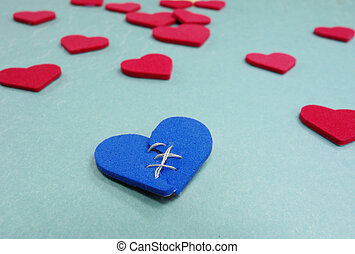 one broken blue heart