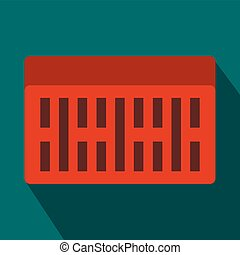One building brick icon, flat style