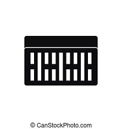 One building brick icon, simple style