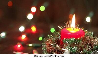 one burning candle