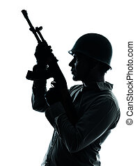 army soldier man portrait - one caucasian army soldier man...