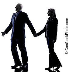 couple senior silhouette