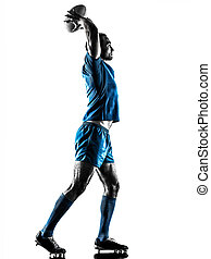 rugby man player silhouette isolated